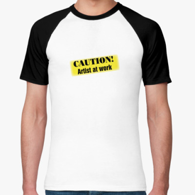 Футболка реглан Caution (предостережение)