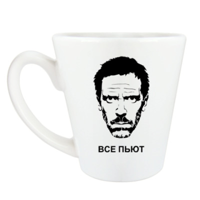 Чашка Латте Хаус Все пьют