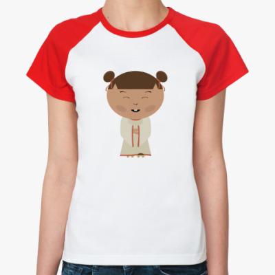 Женская футболка реглан Японская девочка
