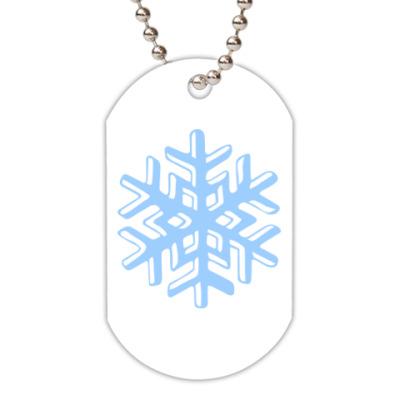Жетон dog-tag Объемная снежинка