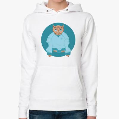 Женская толстовка худи Animal Fashion: O is for Owl