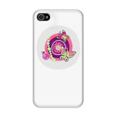 Чехол для iPhone 4/4s бабочки-черепушки