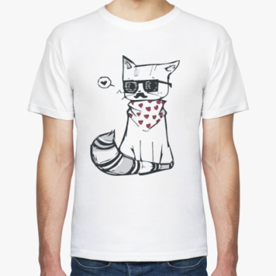 Футболка Котик весь в любви