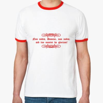 Футболка Ringer-T Тамплиерский крест с девизом