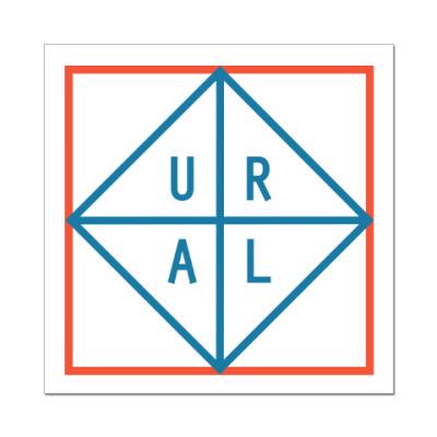 Наклейка (стикер) URAL