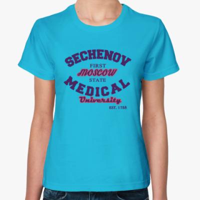 Женская футболка Первый мед Сеченова