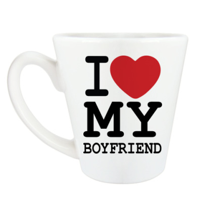 Чашка Латте I Love My Boyfriend
