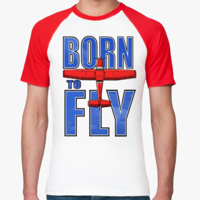 Футболка реглан born to fly