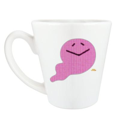 Чашка Латте Добрый призрак