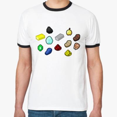 Футболка Ringer-T майнкрафт (minecraft)