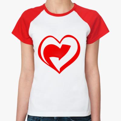 Женская футболка реглан Der Rote Punkt