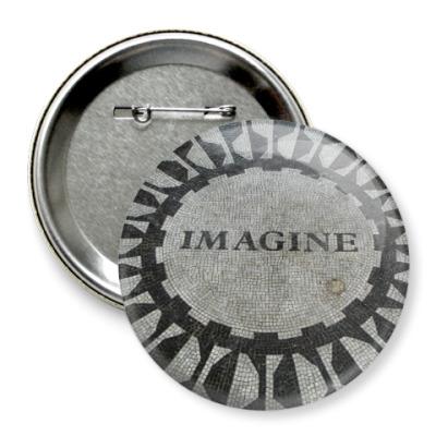 Значок 75мм  Imagine (больш)