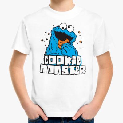 Детская футболка Монстр ест печенье