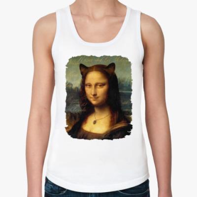 Женская майка Мона Киса