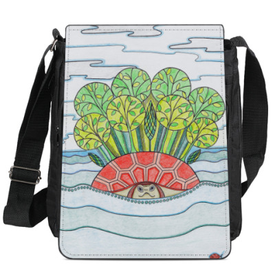 Сумка-планшет Остров-черепаха