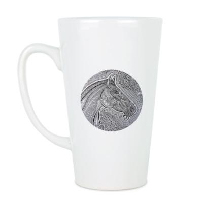Чашка Латте Лошадь