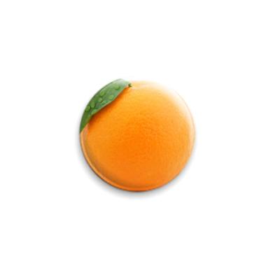 Значок 25мм  Апельсин