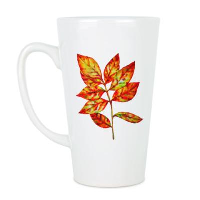 Чашка Латте Осенний лист