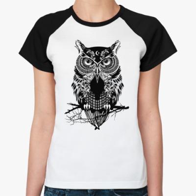 Женская футболка реглан Dark Owwwwwl