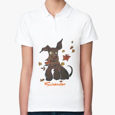 Женская рубашка поло Осенний шнауцер