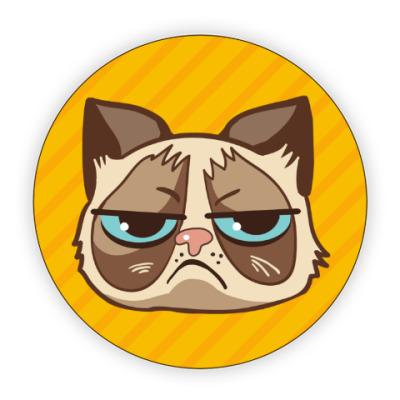 Костер (подставка под кружку) Угрюмый кот Тард - Grumpy Cat