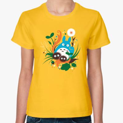Женская футболка Веселый Тоторо