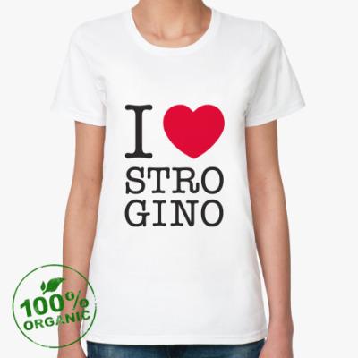 Женская футболка из органик-хлопка I ♥ Strogino