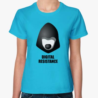 Женская футболка  Цифровое сопротивление