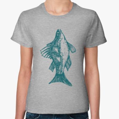 Женская футболка Fish