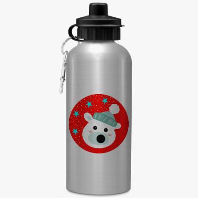 Спортивная бутылка/фляжка Полярный медведь