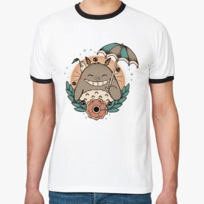 Футболка Ringer-T Smile Totoro