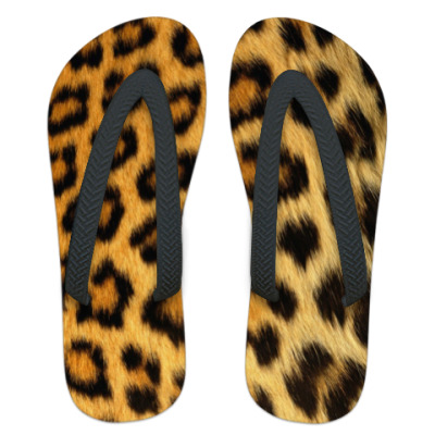 Шлепанцы (сланцы) Леопардовая шкура