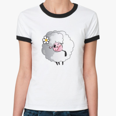 Женская футболка Ringer-T овечка с леденцом