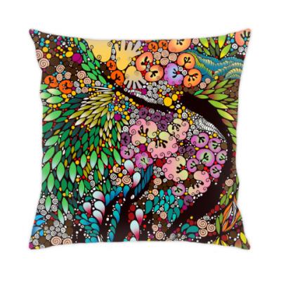 Подушка Яркая разноцветная абстракция