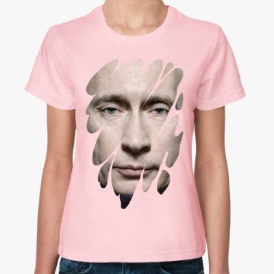 Женская футболка Лик Путина