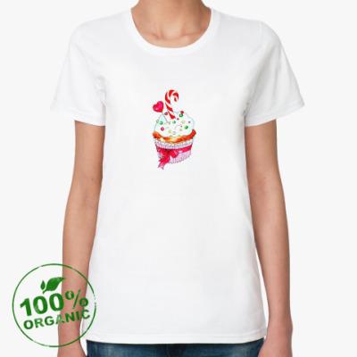 Женская футболка из органик-хлопка Любимый капкейк
