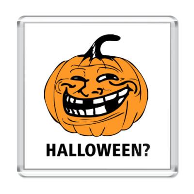 Магнит  Trollface. Halloween?