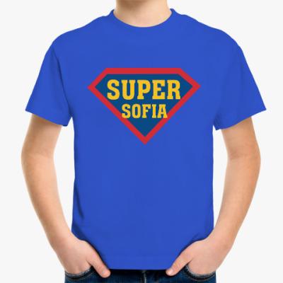 Детская футболка Супер София (sofia)