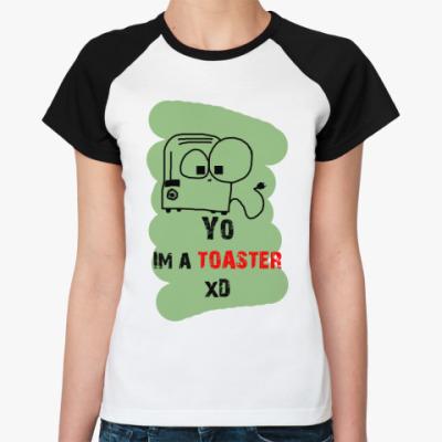 Женская футболка реглан 'Тостер'