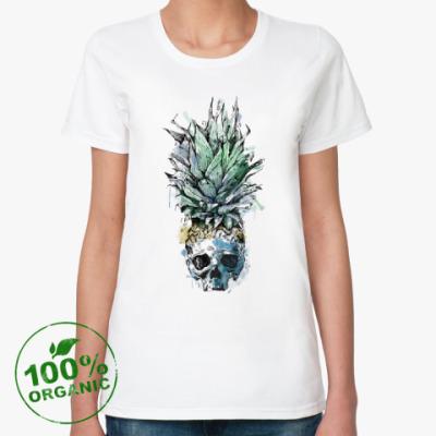 Женская футболка из органик-хлопка Череп
