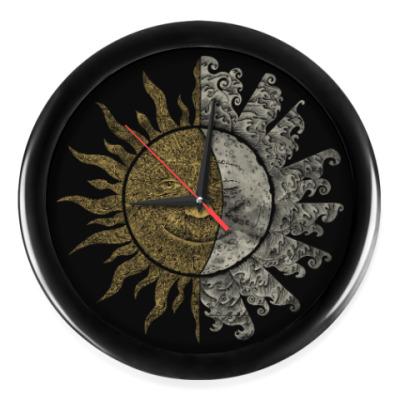 Настенные часы Солнце и Луна