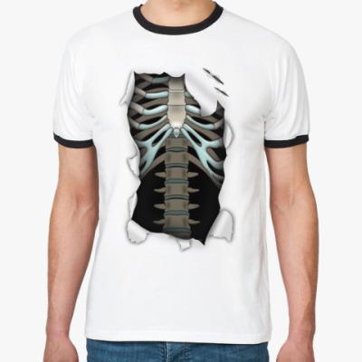 Футболка Ringer-T Рисунок 'Скелет'