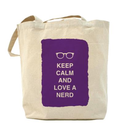 Сумка Keep calm and love a nerd
