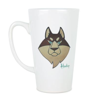 Чашка Латте Хаски