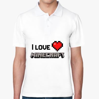 Рубашка поло I love minecraft