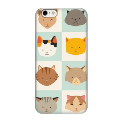 Чехол для iPhone 6/6s Паттерн из котов