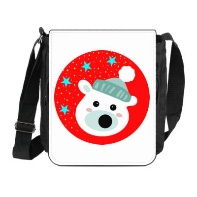Сумка на плечо (мини-планшет) Полярный медведь