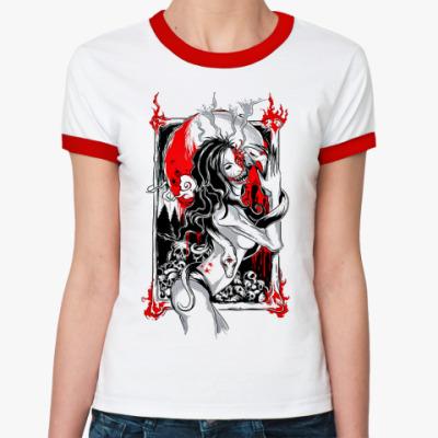 Женская футболка Ringer-T  Жен. Чужая