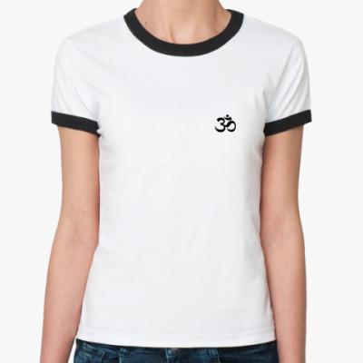 Женская футболка Ringer-T   'Йога'