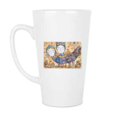 Чашка Латте Мифическая птица